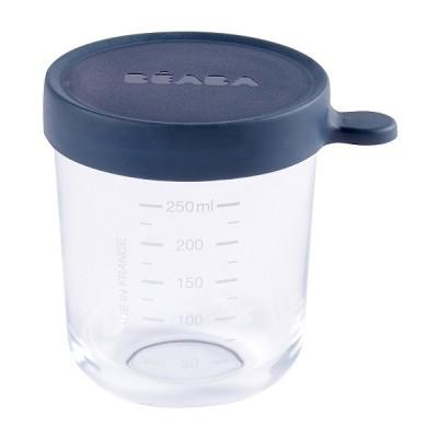 Bote de Conservacion Beaba Portion cristal 250 ml - Azul Oscuro Accesorios Babycook