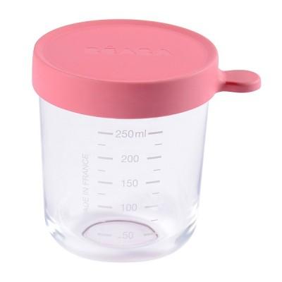Bote de Conservacion Beaba Portion cristal 250 ml - Rosa Oscuro Accesorios Babycook