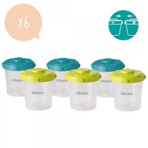Set de 6 botes de conservación comida para bebés Beaba - 912482
