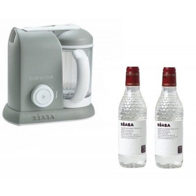 Babycook Solo Beaba Gris + 2 productos limpieza packs Babycook