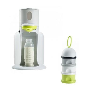 Bib Expresso Beaba Neon + Dosificador leche Lima packs Beaba